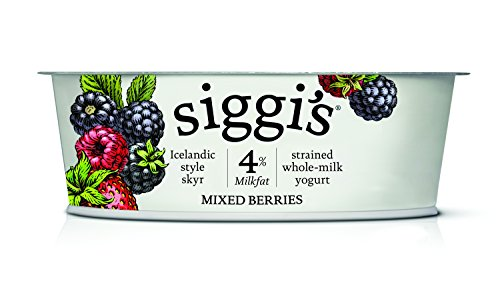 Siggi's Icelandic Milk and Skyr Whole Milk Yoghurt, Mixed Berries, 4.4 oz
