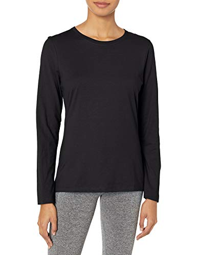 Hanes Women's Long Sleeve Tee, Ebony, X-Large