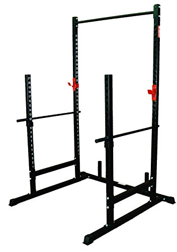 TDS Power, Squat & Open Rack Station, with Solid Steel Safety Bars, 1.25' Dia Professionally Knurled Pull Up Bar