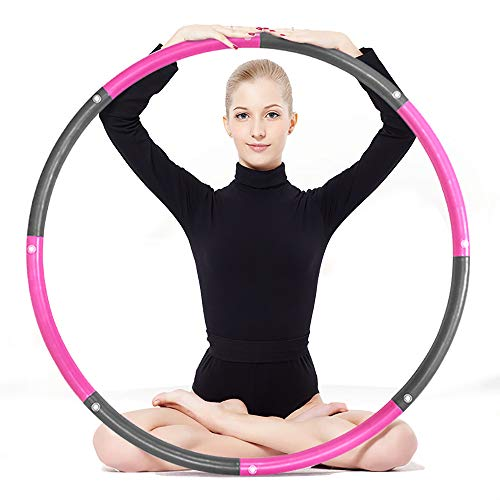 ANATYU Weighted hoop for Woman and Man Exercise Removable Multiple Assembly Design Professional Fitness Hoop Brings Perfect Figure