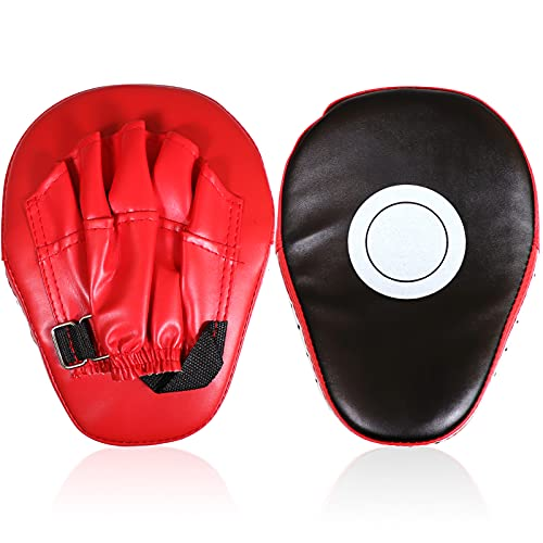 Boxing Pads Curved Focus Punching Mitts Training Hand Target Pads Gloves Training Focus Pads for Kickboxing, Karate, Muay Thai Kick, Sparring, Dojo, Martial Arts Punch Mitts for Kids, Men, Women