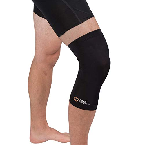 Copper Compression - Recovery Copper Knee Compression Sleeve - Highest Copper Content - Stiff/Sore Muscle & Joint Support - Arthritis, ACL, & Pain Relief - Comfortable Fit for All Day Wear - Men/Women
