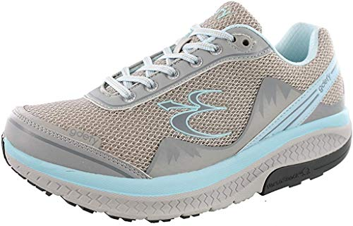 Gravity Defyer Pain Relief Women's G-Defy Mighty Walk Athletic Shoes 9.5 M US - Women's Walking Shoes for Plantar Fasciitis - Gray, Blue
