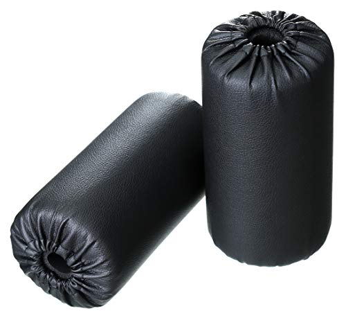 Foam Foot Pads Rollers Set of a Pair (7'x3.5'x20mm) for Home Gym Exercise Machines Equipments Replacements with 1 Inch Rod