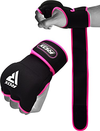 RDX Ladies Boxing Hand Wraps Inner Gloves for Punching – Women Neoprene Padded Fist Protection Bandages Under Mitts with Quick Long Wrist Support - Great for MMA, Muay Thai & Kickboxing Training