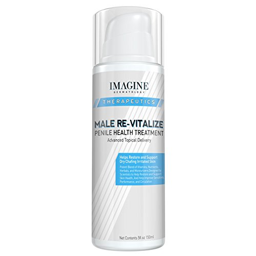 Penile Health Relief Cream No Mess Pump Soothe & Protect Red Irritated Chaffed Skin Male Re-Vitalize Large Value Size (5fl oz/ 150ml) 90 Day Return for Any Reason