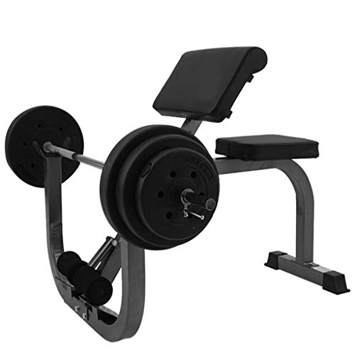 m·kvfa Preacher Arm Curl Weight Bench, Isolated Barbell Dumbbell Lifting Press Gym Equipment Biceps Station Height Adjustable Roman Chair