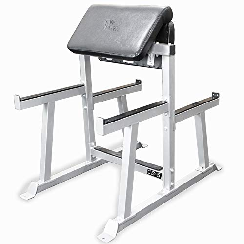 Valor Fitness CB-5 Arm Curl/Preacher Curl Bench Used for Strictly Curls Used with EZ Curl Bar (Sold Separately)