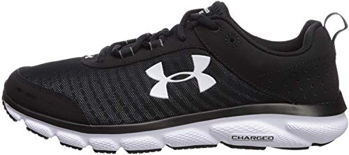 Under Armour mens Charged Assert 8 Running Shoe, Black/Black, 12 US