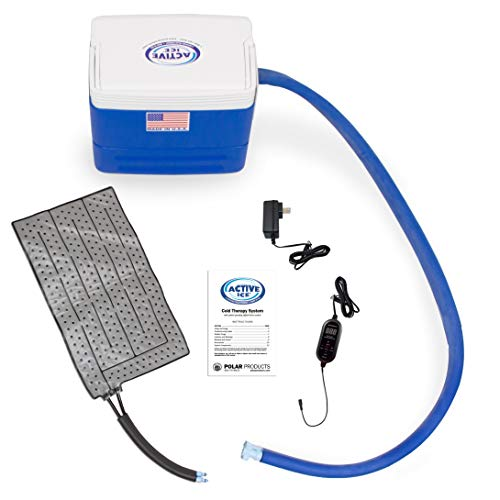 Polar Active Ice 3.0 Cold Therapy Ice Machine System with Programmable Timer, Universal Rectangular Compression Pad, Lightweight 9 Quart Cooler, Quiet Pump, Strong Cyrotherapy Pain Relief Treatment
