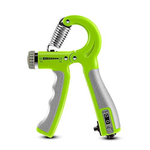 Forearm Hand Grip Strengthener Trainer Adjustable Resistance 10-132Lbs(10-60kg) Workout Hand Exerciser for Athletes and Musicians Fitness Guitar Pianist Hand Rehabilitation Training (Green)
