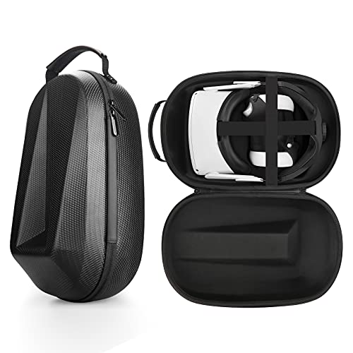 Esimen Travel Case for Oculus Quest 2, Compatible with Esimen Q2 Adjustable Headband /GaWaee Head Strap and Other Oculus Quest 2 Accessories, All-in-One Carrying Bag (Black Case)
