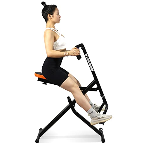 PS Squat Exercise ab Machine, Full Body Power Workout Cardio Fitness Strength Exercise Equipment Rowing Squat Assist Trainer db Method Machine for Gym Home