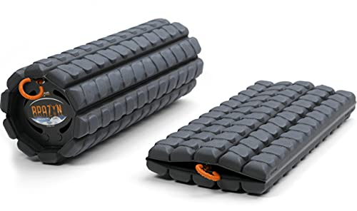 Brazyn Morph Foam Roller - for Home, Gym, Office, Travel, Athletes - Collapsible & Lightweight Roller for Trigger Point Massage, Myofascial Release (Alpha Series (Deep Tissue) - Midnight)