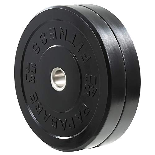 papababe Bumper Plates 2 inch Bumpers Olympic Weight Plate with Steel Insert Bumper Weights Set Free Weight Plates