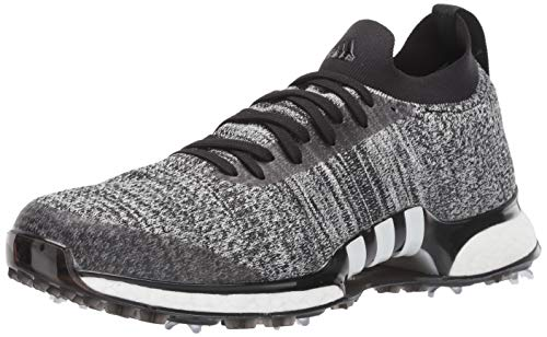 adidas Men's TOUR360 XT Primeknit Golf Shoe, core Black/White/Silver Metallic, 11 Medium US