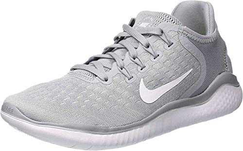 Nike Women's Free RN 2018 Running Shoe (8 M US, Wolf Grey/White/Volt)
