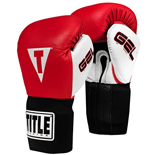 Title Gel Intense Bag/Sparring Gloves, Red/White, 14-Ounce