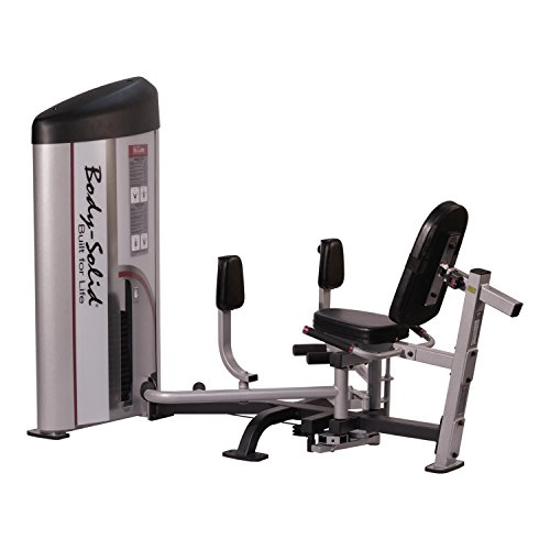 Body Solid S2IOT1 ProClub Line Series 2 Inner/Outer Thigh Machine with 11-Gauge Steel and Construction and Instructional Placards 160-Pound