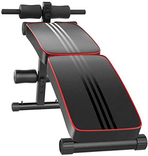 LINMOUA Professional Folding Sit Up Inclined Bench with Fitness Rods, for Abs Abdominal Bench Press Reverse Crunch Core Workout,Utility Bench, Home Gym Strength Training Fitness Equipment【Shipping from US】