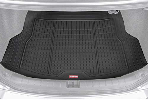 Motor Trend Premium FlexTough All-Protection Cargo Mat Liner – w/Traction Grips & Fresh Design, Heavy Duty Trimmable Trunk Liner for Car Truck SUV, Black (DB220-B2)