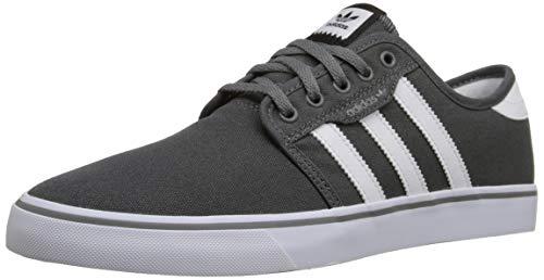 adidas Originals Men's Seeley Running Shoe, Ash Grey/White/Black, 10.5 M US