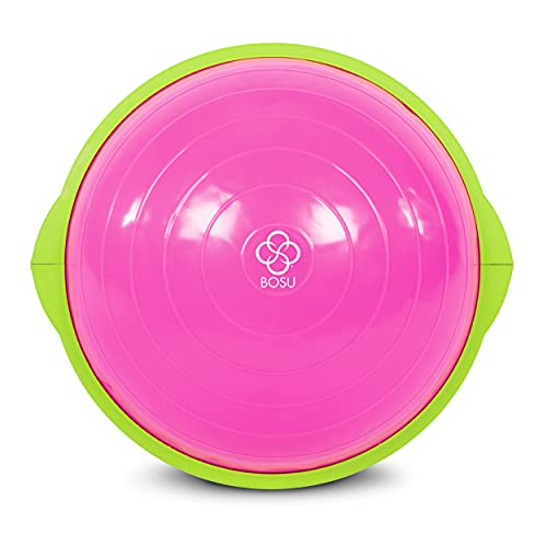 Bosu Sport Balance Trainer, Travel Size Allows for Easy Transportation and Storage, 50cm, Pink