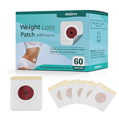 Reejoys Weight Loss Sticker, Fat Burning Sticker with Magnets - Best for Waist Abdominal Fat, Quick Slimming (60 Pcs)