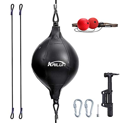TOCO FREIDO Double End Ball with Pump and 2 or 3 Boxing Reflex Ball with Headband, Perfect for Gym MMA Boxing Sports Punch Bag, Reaction, Agility, Punching Speed, Fight Skill and Hand Eye Training