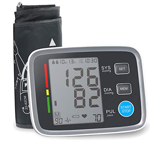 ALPHAGOMED Accurate Blood Pressure Monitor for Arm Adjustable BP Cuff (21 inch Cuff Long)for Home Use Automatic Upper Arm Digital Machine 180 Sets Memory Includes Batteries and Carrying Case