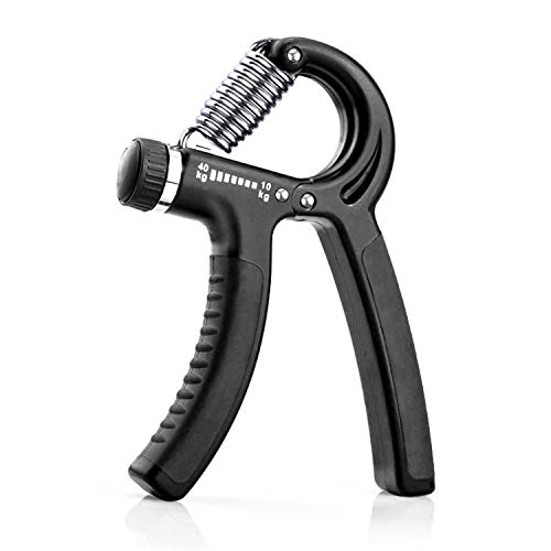 KOOLIFE Hand Grip Strengthener, Hand Workout strengthening Equipment,Grip Exercise Trainer, Hand Gripper Strengthen Exerciser with Adjustable Resistance Range 22 to 88 Lbs - Black