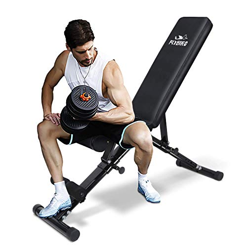 FLYBIRD Weight Bench, Utility Adjustable Bench for Full Body Workout, Multi-Purpose Foldable Incline Decline Bench - 2020 Version (Adjustable Weight Bench)