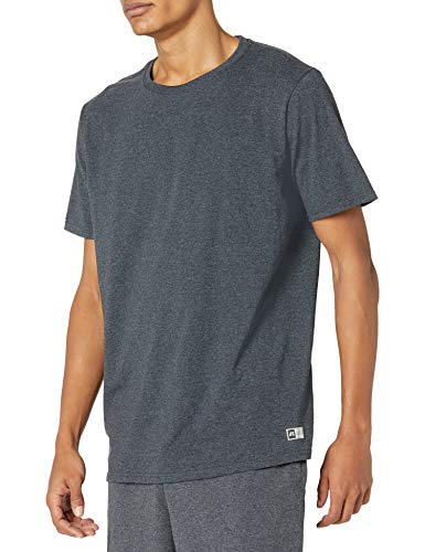 Russell Athletic mens Performance Cotton Short Sleeve T-Shirt, black heather, XL