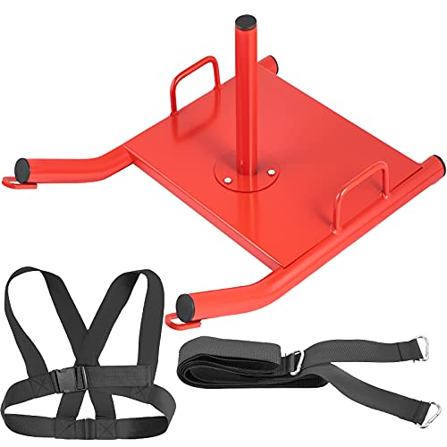 VEVOR Weight Sled Push Pull Heavy High Training Sled Drag Fitness HD Power Speed Training Sled for Athletic Exercise and Fitness Strength Training (Red)