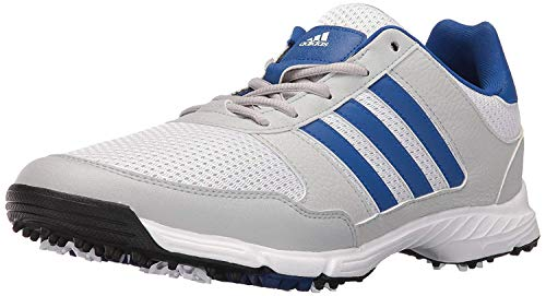 adidas Men's Tech Response Golf Shoe, White/Royal, 12 M US