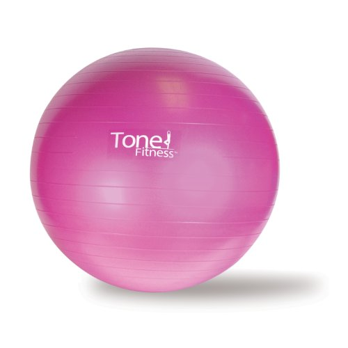 Tone Fitness Stability Ball / Exercise Ball | Exercise Equipment, Pink, 55 Centimeters