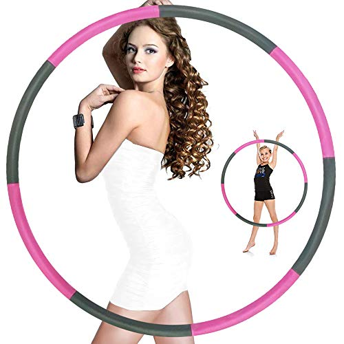 Dattdey Hula Hoop,Hula Hoops for Adults,Hula Hoop for Weight Loss,Weighted Hula Hoop,Weighted Exercise Hula Hoops for Adults,Hula Hoops Bulk,Professional Soft Fitness Hula Hoops