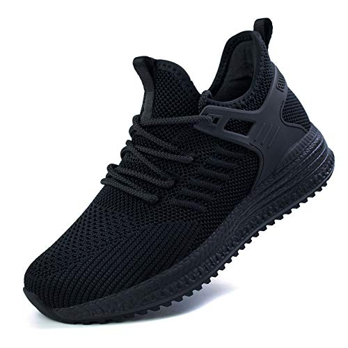 SDolphin Running Shoes Women Sneakers - Tennis Black Workout Walking Gym Athletic Lightweight Casual Comfortable Memory Foam Womens fashion Shoes Ladies Nursing Jogging Breathable Mesh Slip on Women's Walking Road Running shoes Black Size 8