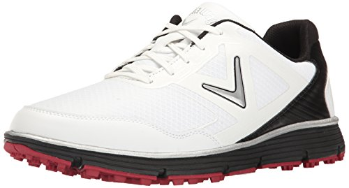 Callaway Men's Balboa Vent Golf Shoe, White/Black, 11 D US