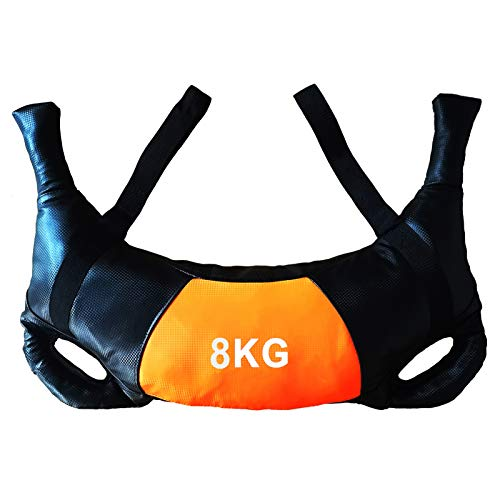 Professional Fitness Core Training Power Bulgarian Bag Iron Sand Filled Strength Power Bag for Home Gym Weight Training Bulgarian Bag (8KG)