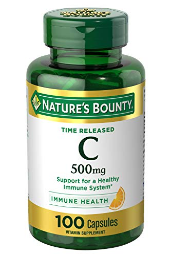 Vitamin C by Nature's Bounty for immune support. Vitamin C is a leading leading vitamin for immune support.* 500mg, 100 Capsules