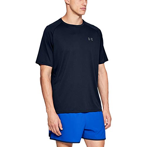 Under Armour Men's Tech 2.0 Short Sleeve T-Shirt, Academy (408)/Graphite, Medium