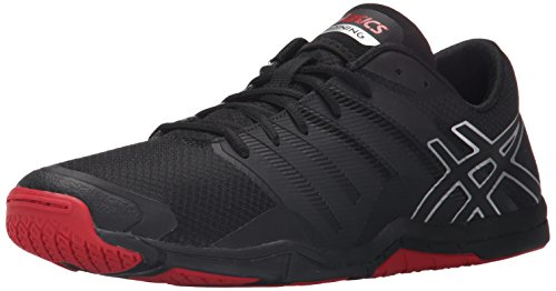 ASICS Men's MET-Conviction, Black/Silver/Racing Red 8.5 M US