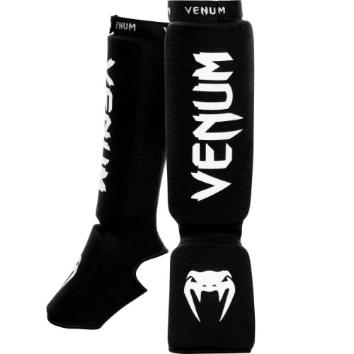 Venum 'Kontact' Shin and Instep Guards, Black