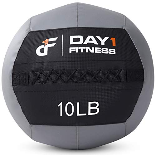 Day 1 Fitness Soft Wall Medicine Ball 30 Pounds - Exercise,Rehab, Core Strength, Large Durable Balls for TRX, Floor Exercises, Stretching