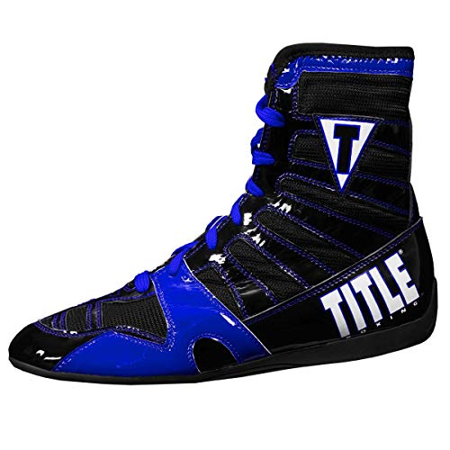 Title Boxing Velocity KO Boxing Shoes, Blue/Black, 10