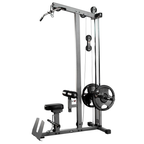 XMark Heavy Duty LAT Pulldown and Low Row Cable Machine with High and Low Pulley Stations and Flip-Up Footplate
