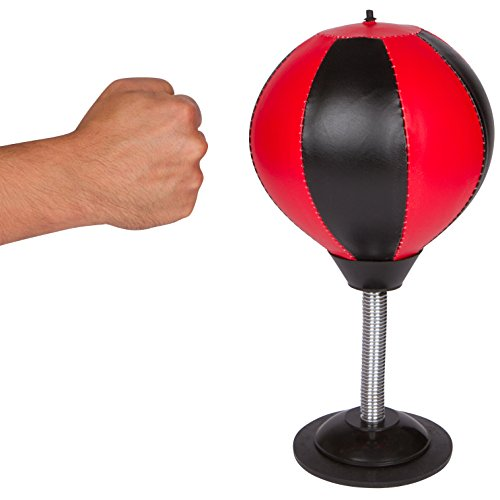 Trademark Innovations Desktop Punching Speed Bag Stress Buster with Pump