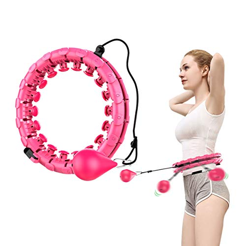 OUTCITY Hoola Hoops for Adults 24 Knots Detachable Adjustable Size Exercise Hula Circle, Non-Dropping 360 °Massage Lose Weight Hoop for Beauty and Fitness