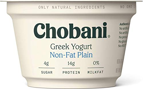 Chobani Non-Fat Greek Yogurt, Plain 5.3oz